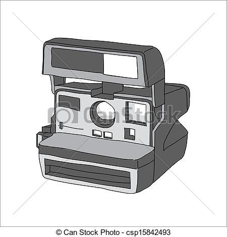 450x470 Hand Drawn Of Vector Camera, Polaroid.