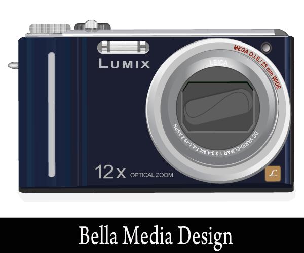 600x500 Lumix Camera Vector Art 123freevectors