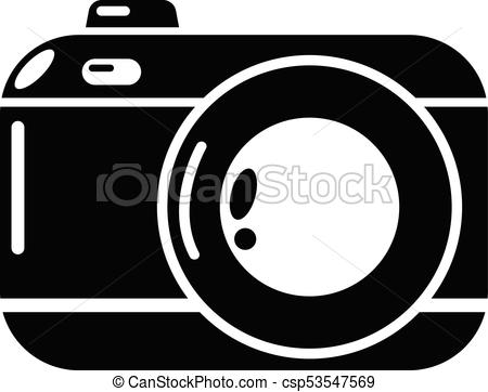 450x362 Photo Camera Icon, Simple Black Style. Photo Camera Icon. Simple