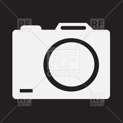 400x400 Photo Camera On Black Background Vector Image Vector Artwork Of