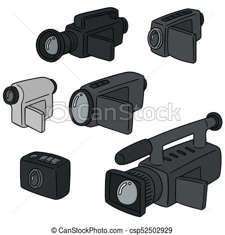 450x470 Vector Set Of Video Camera.