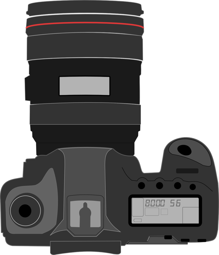 827x965 Camera Vector Art By Nick Spratt