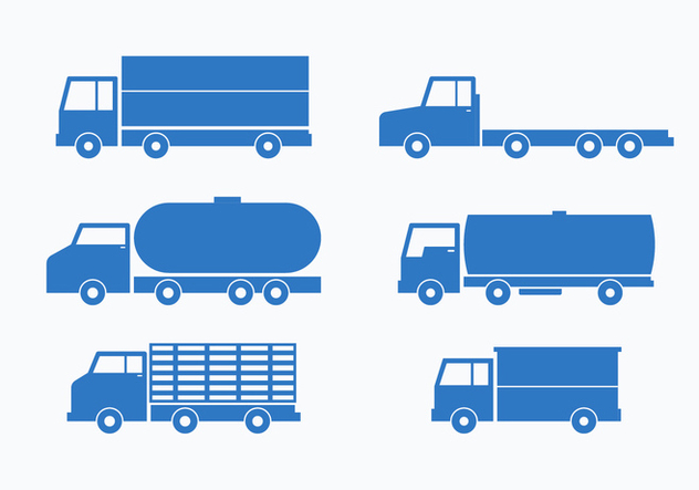 632x443 Blue Camion Vector Collection Set Free Vector Download 430211