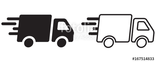 500x200 Camion De Livraison Rapide Stock Image And Royalty Free Vector