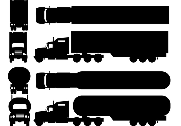 632x443 Two Silhouette Camion Types Free Vector Download 428269 Cannypic