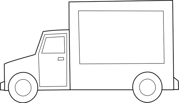 600x344 Camion Truck Free Vector In Open Office Drawing Svg ( .svg