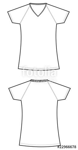 260x500 Camiseta Mujer Manga Ranglan Blanca Stock Image And Royalty Free