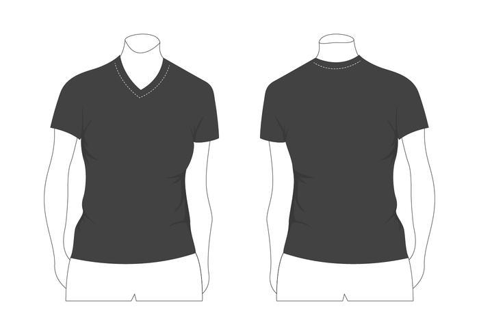 700x490 Plantilla De Camiseta De Mujer En Blanco