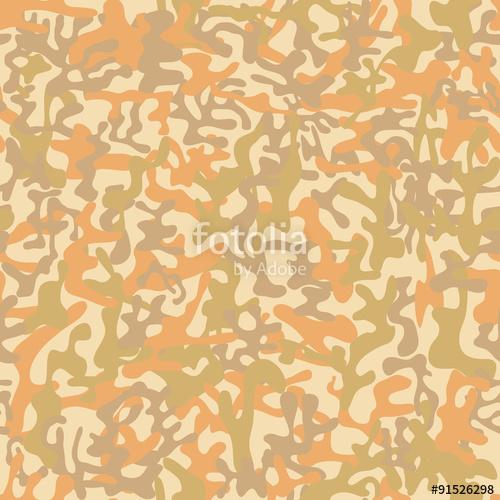 500x500 Seamless Desert Storm Military Camouflage Pattern