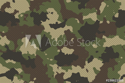 500x334 Camouflage Seamless Pattern With Canvas Mesh. Trendy Style Camo