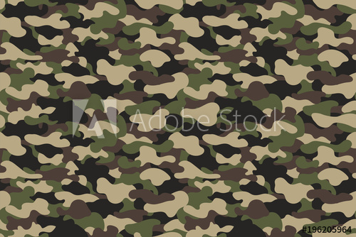 500x334 Camouflage Seamless Pattern. Military Clothing Texture Background