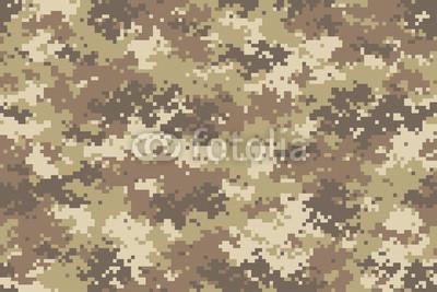 400x267 Desert Camouflage Seamless Pattern. Trendy Style Pixel Camo