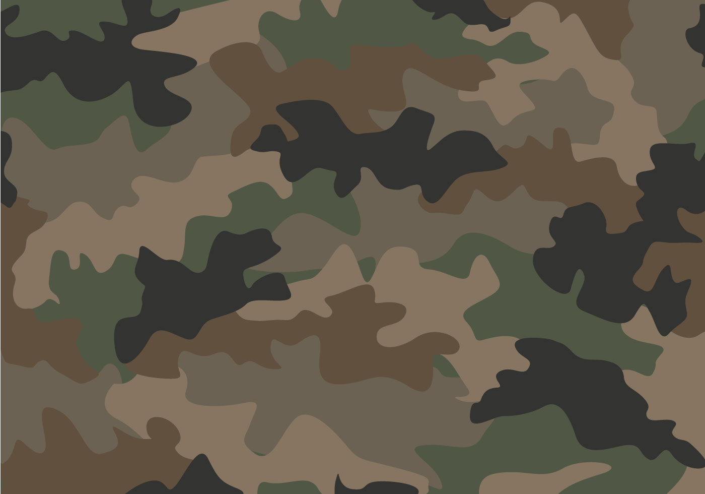 1400x980 Camouflage Seamless Pattern Free Vector Art