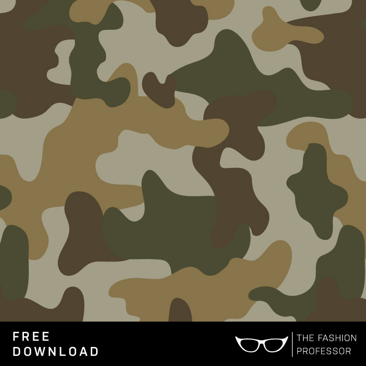 750x750 Free Vector Download Camo Swatch The Fashion Professor
