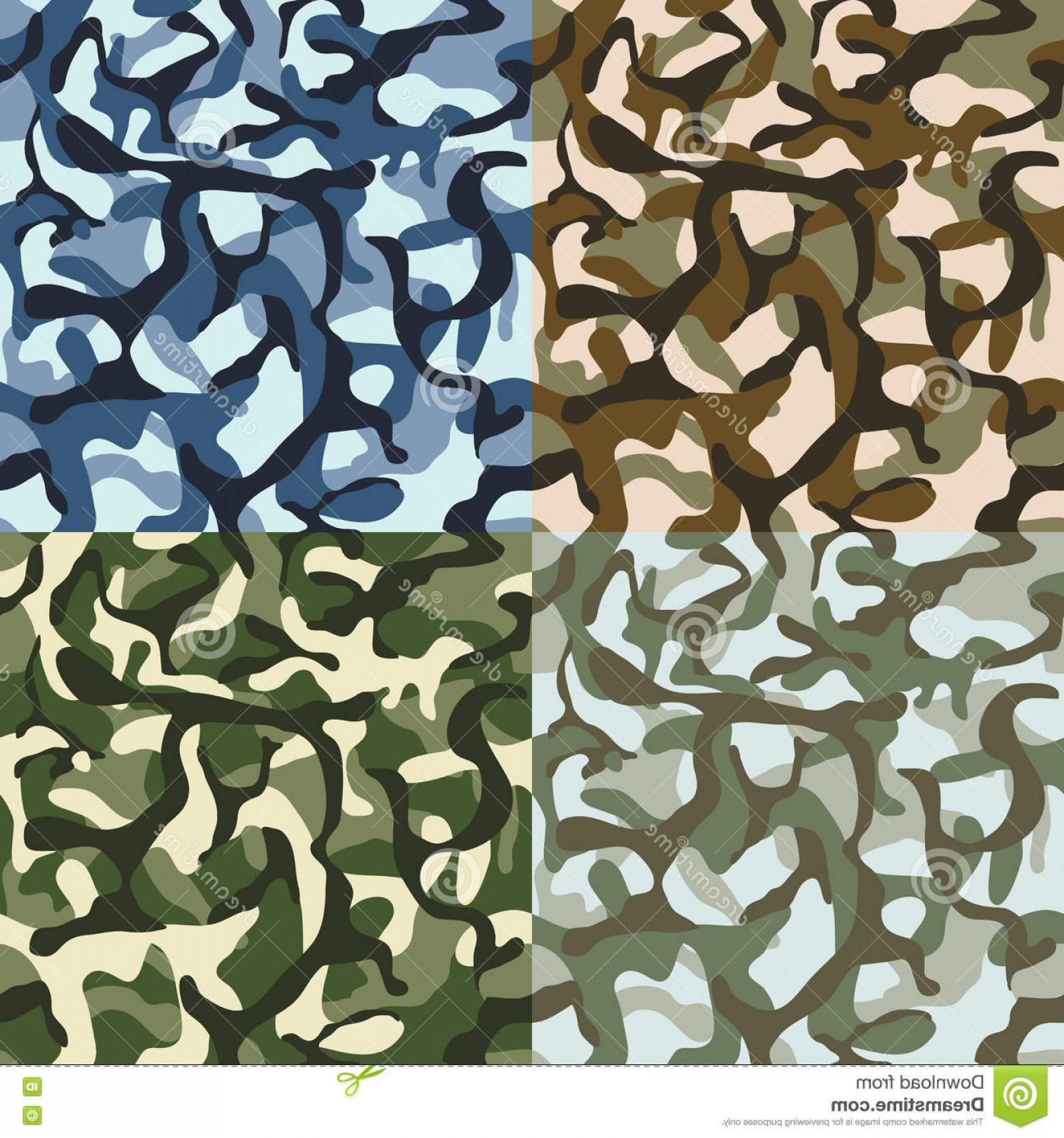 1560x1668 Stock Illustration Army Camouflage Hunter Combat Camo Vector
