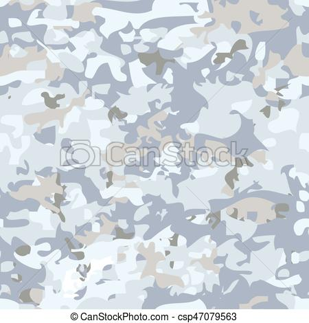 450x470 White Camouflage Pattern. White Seamless Military Camouflage