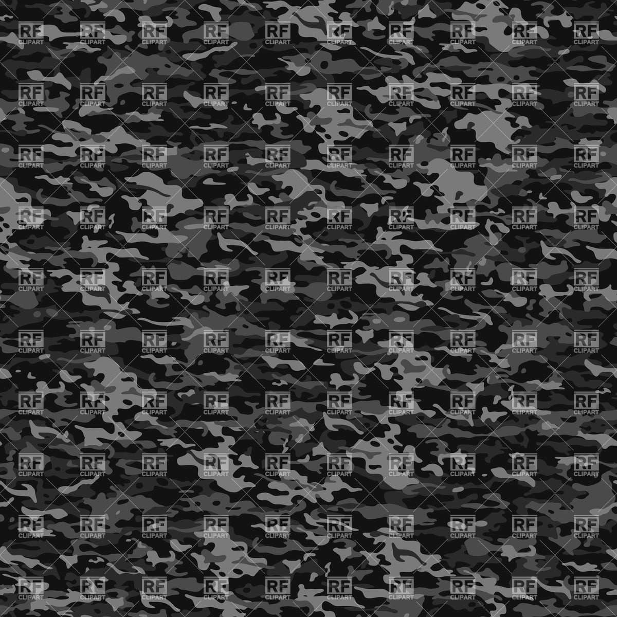 1200x1200 Seamless Camouflage Pattern In Dark Gray Colors Vector Image