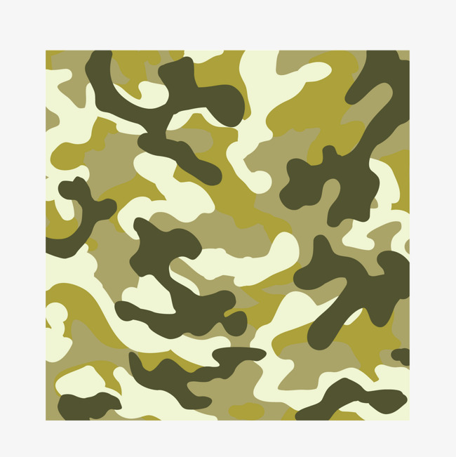650x651 Vector Military Camouflage Brush Light Green, Camouflage Vector