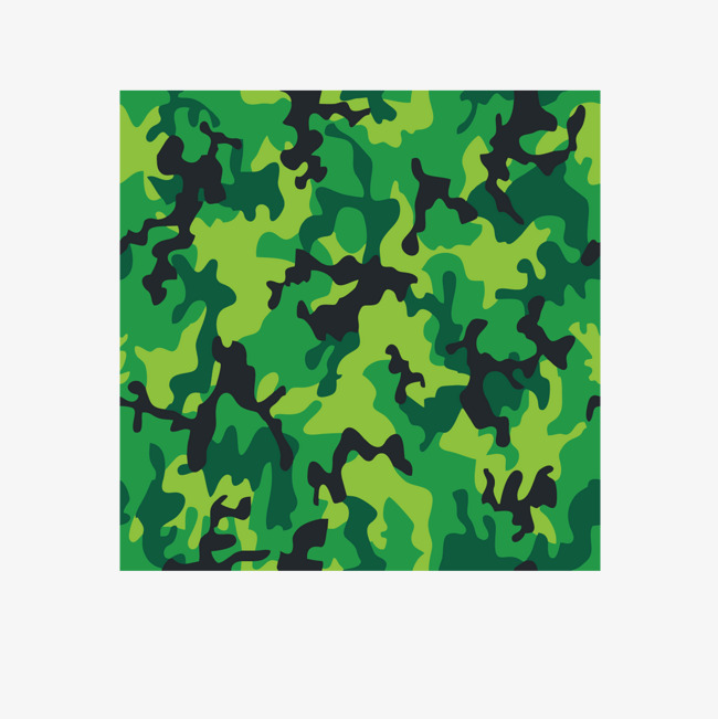 650x651 Vector Military Camouflage Green Uniform, Camouflage Vector, Green