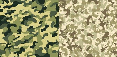 496x244 Camouflage Patterns Design Vectors Material Free Download