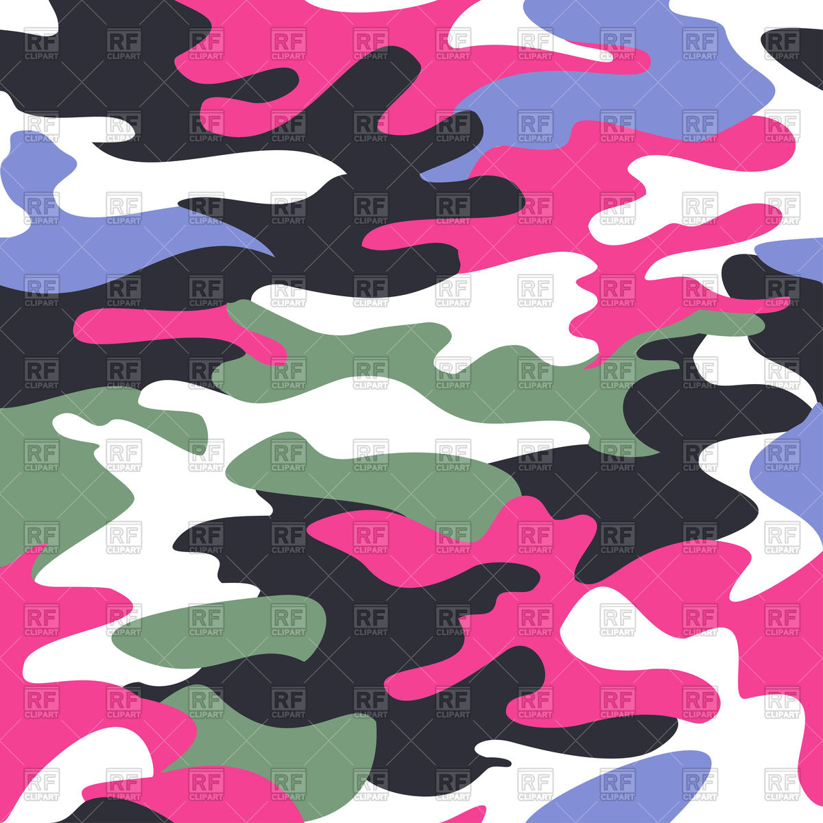 1200x1200 Camouflage Pink Seamless Pattern Vector Image Vector Artwork Of