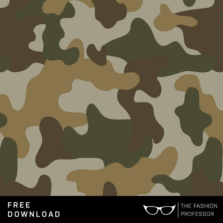 750x750 Free Vector Download Camo Swatch The Fashion Professor