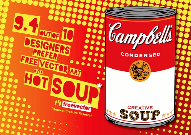646x456 Pop Art Soup Vector Free Download