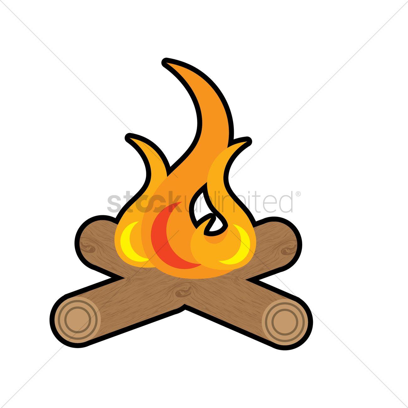 1300x1300 Campfire Vector Image