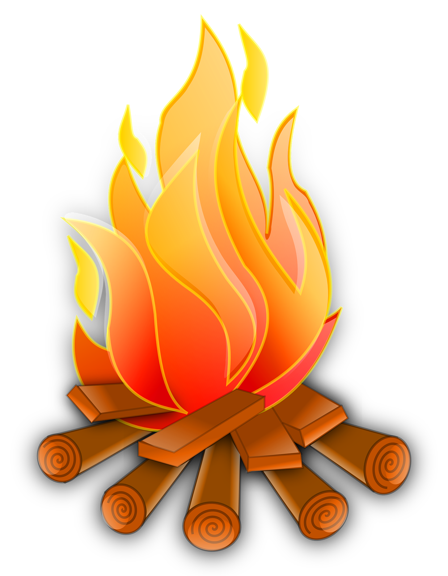 1450x1866 Campfire Vector Png Image