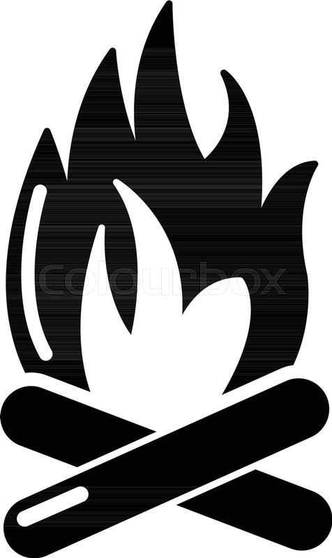 476x800 Campfire Icon . Simple Illustration Of Campfire Vector Icon For