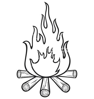 380x400 Campfire Vector Tattoo Ideas Campfires, Tattoo And