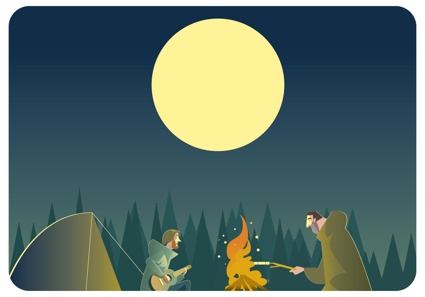 1400x980 Campfire Free Vector Art