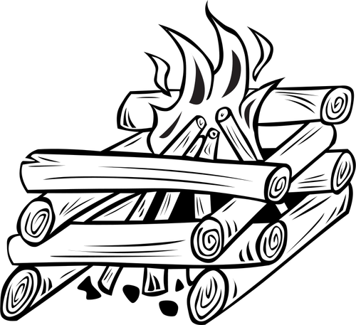 500x457 Campfire Vector Illustration Public Domain Vectors