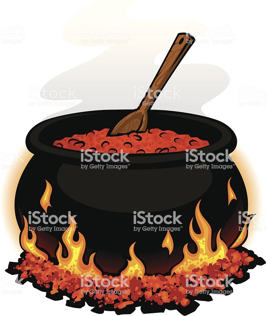 864x1024 Chili Pot Stock Vector Art More Images Of Campfire 165764141