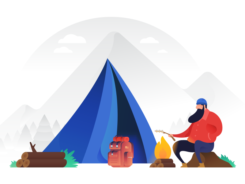 800x600 Camping Vector Illustration By Ramy Wafaa