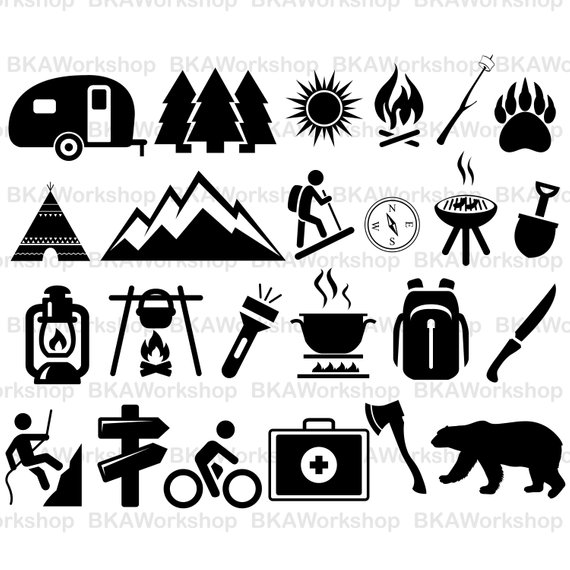 570x570 Camping Svg Camping Vector Camping Silhouette Camping Etsy