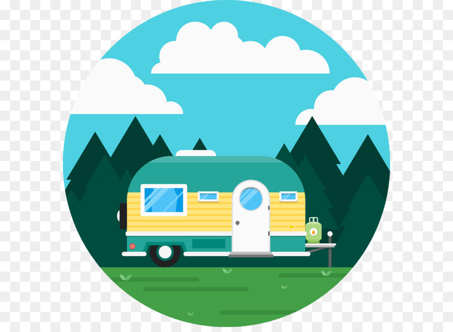 900x660 Caravan Recreational Vehicle Camping Icon
