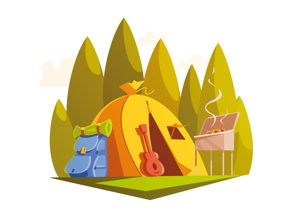 1156x875 Collection Of Free Camping Vector Background. Download On Ubisafe