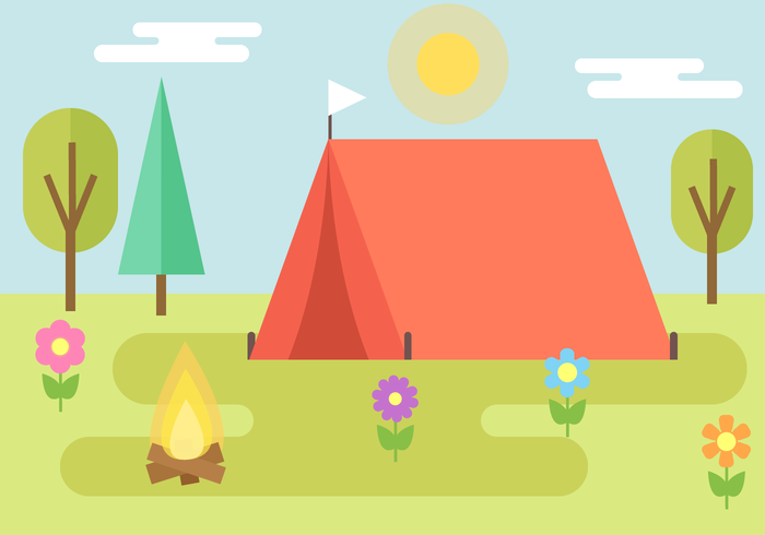 700x490 Free Camping Vector