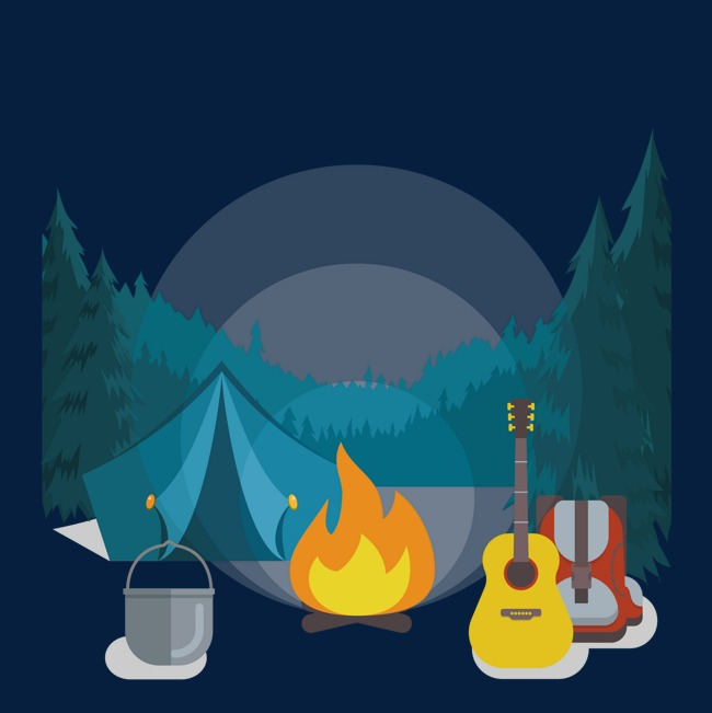 650x651 Vector Camping, Vector, Camping, Fire Png And Vector For Free Download