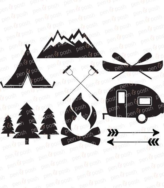 570x653 Camping Svg Camping Clip Art Camping Vector Svg Files Etsy