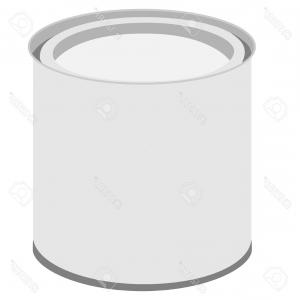 300x300 Paintbrushes And Paint Cans Top And Side Views Vector Clipart