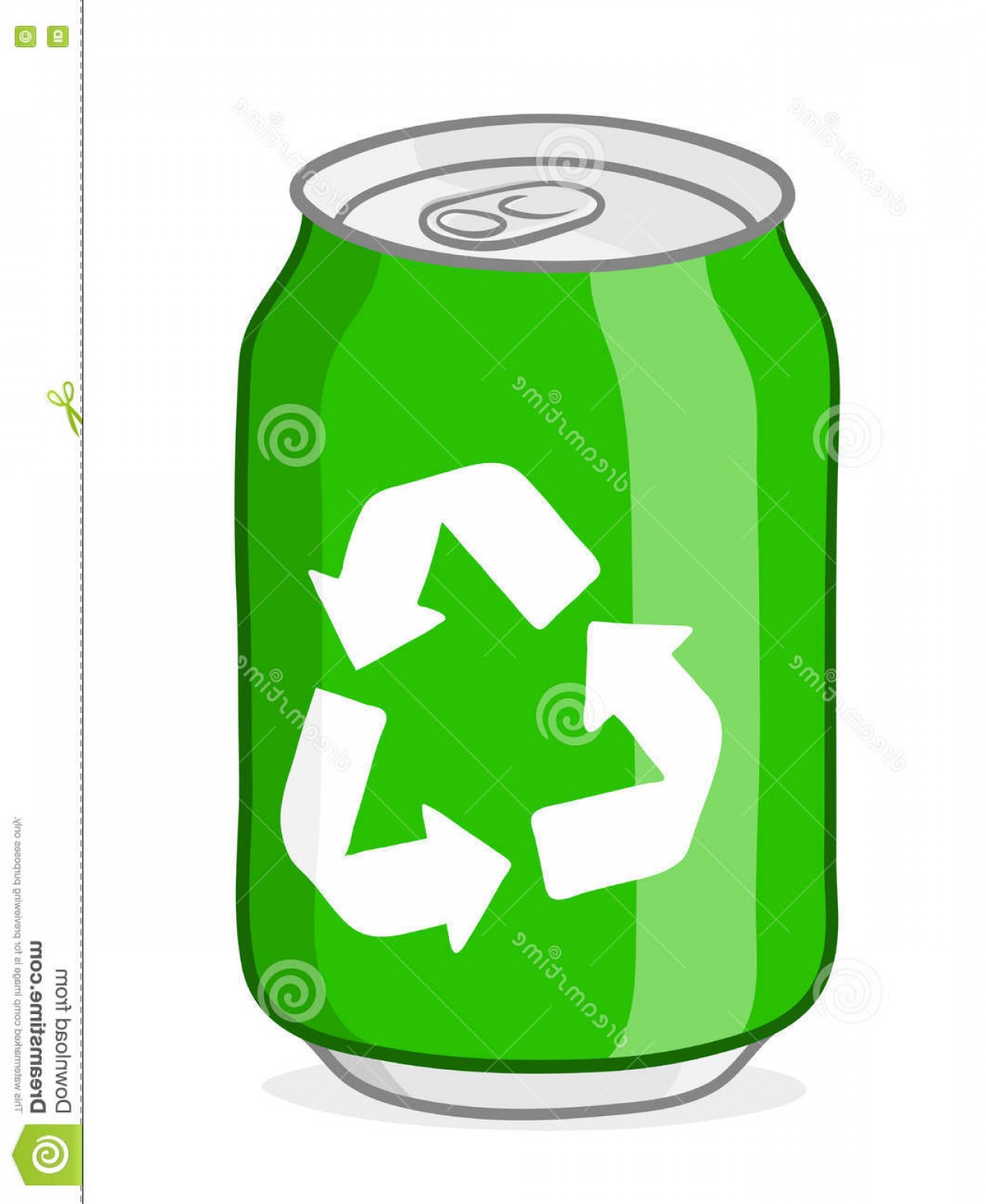 1278x1560 Stock Illustration Green Recycling Soda Can Vector White Recycle