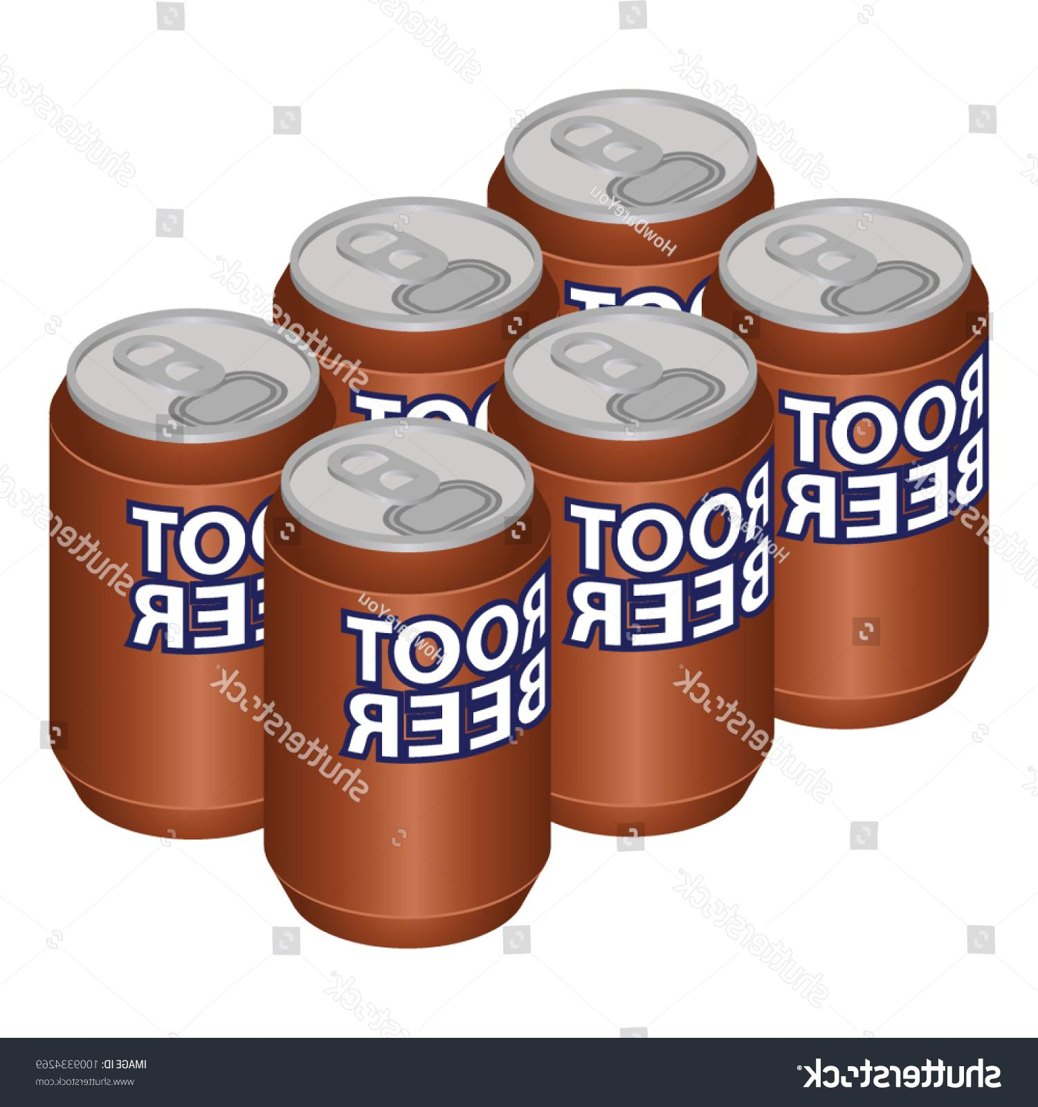 1500x1600 Top Stock Vector Isometric Root Beer Can Six Pack Pictures