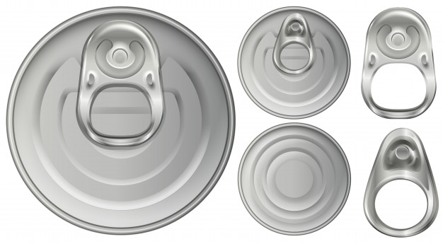 626x345 Top View Of Aluminum Cans And Openers Vector Premium Download