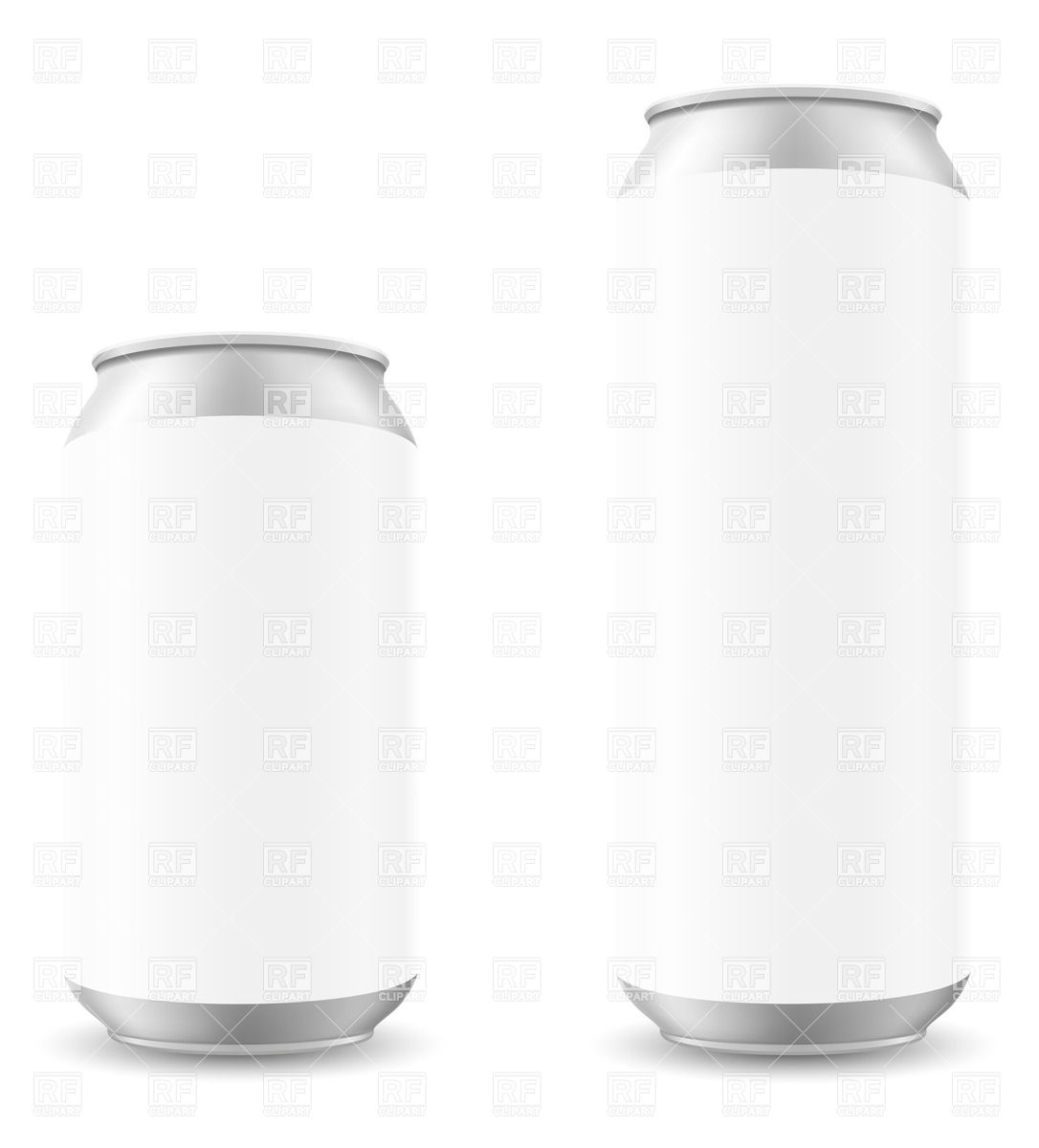 1086x1200 Blank Template Of White Can Of Beer Vector Image Vector Artwork
