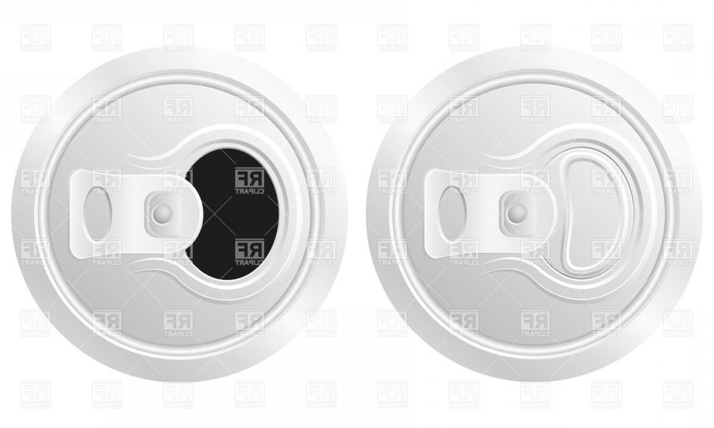 1440x864 Closed And Open Can Of Beer Soda Can Isolated On White Background