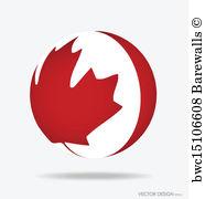 186x180 Art Print Of Canada Flag. Vector Illustration. Barewalls Posters