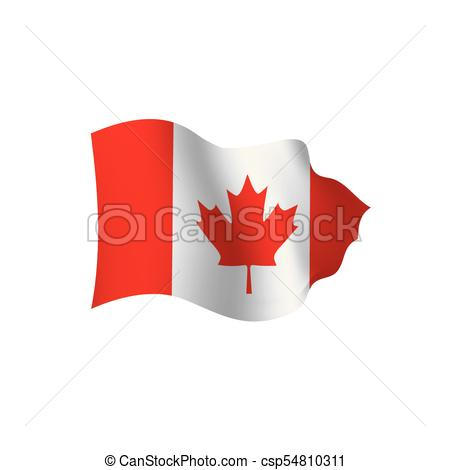 450x470 Canada Flag, Vector Illustration On A White Background.