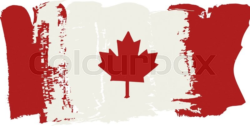 800x405 Canada Flag Painted By Brush Hand Paints. Canadian Art Flag